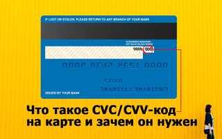 Что такое код cvc cvv и чем он отличается от ПИН-кода