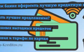 Какую кредитную карту лучше оформить, в каком банке, условия